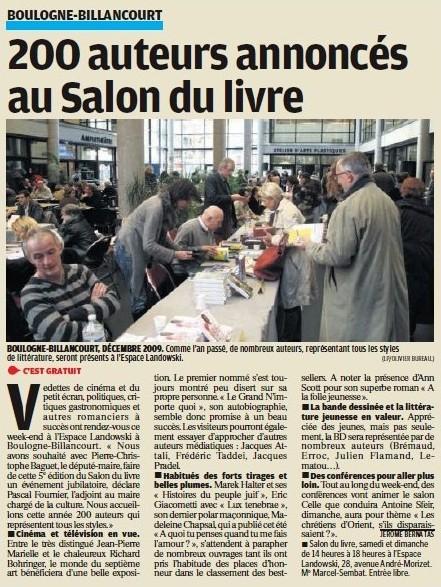 101202 Le Parisien - Salon du Livre
