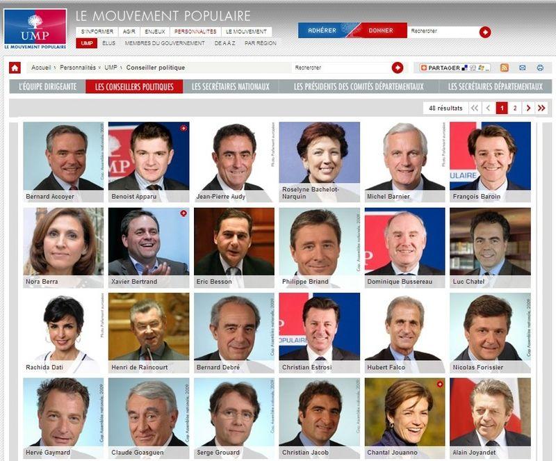 Conseiller politique - UMP - Personnalités - Le Mouvement Populaire – UMP