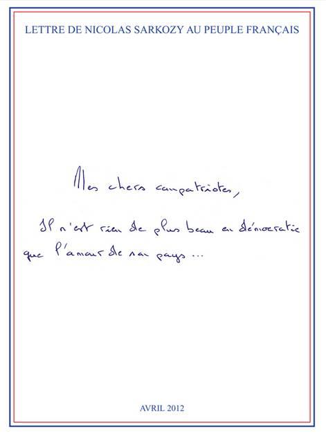 Lettre de NS aux Français